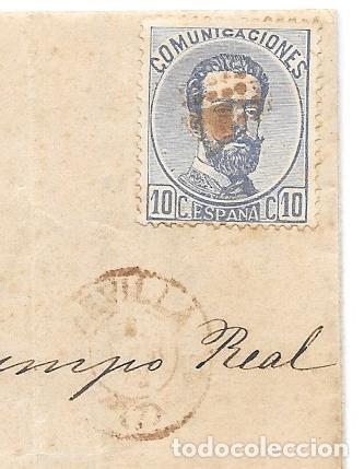 Sellos: ANDALUCIA. EDIFIL 121. ENVUELTA CIRCULADA DE SEVILLA A JEREZ. 1873 - Foto 2 - 191348498