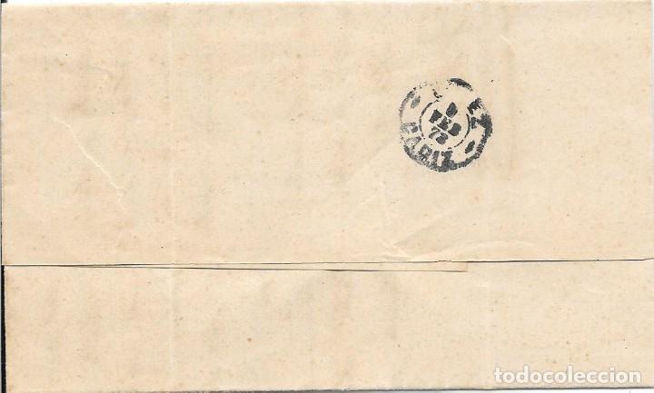 Sellos: ANDALUCIA. EDIFIL 121. ENVUELTA CIRCULADA DE SEVILLA A JEREZ. 1873 - Foto 4 - 191348498