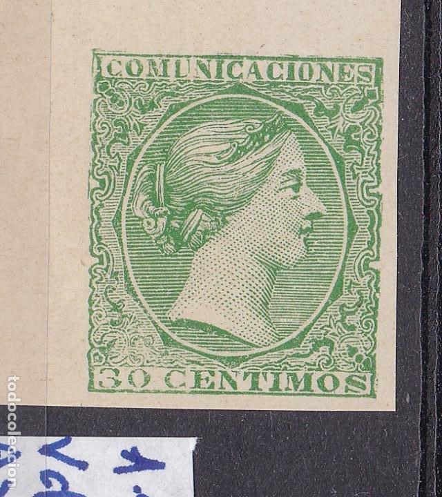 Sellos: TT33-Clásicos Regencia María Cristina PRUEBA Sello No Adoptado Verde . (*) Lujo - Foto 2 - 191399021