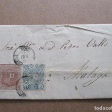Selos: CIRCULADA EDIFIL 153-154 ENVIO HUEVOS EN VAPOR 1875 DE VIGO A MALAGA . Lote 191693893