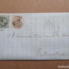 Sellos: CIRCULADA EDIFIL 153-154 ESCRITA NEGOCIO TRIGO 1875 DE BARCELONA A VILLAROBLEDO ALBACETE. Lote 191697327