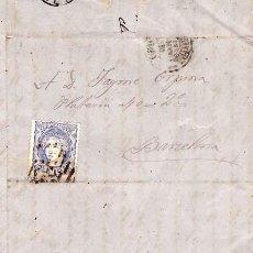 Selos: AÑO1870 EDIFIL 107 CARTA MATASELLOS REJILLA CIFRA 32 LERIDA. Lote 191726373