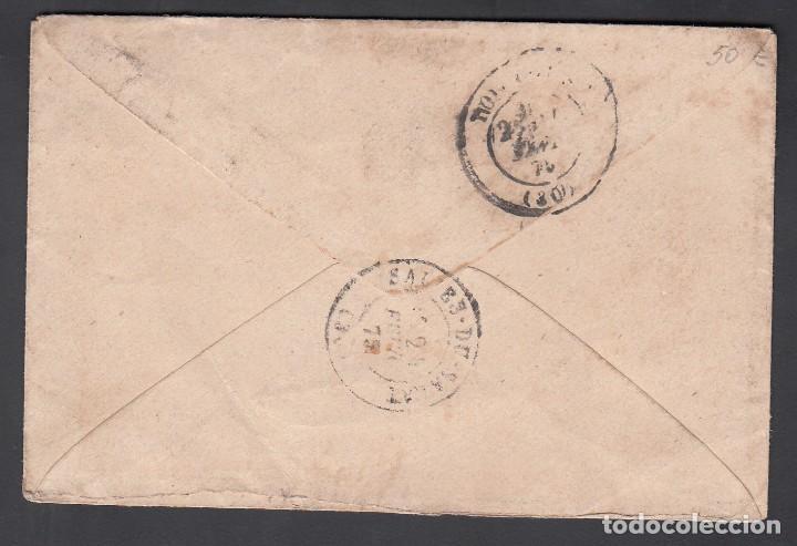 Sellos: Carta, Barcelona - Francia, Matasellos Fechador de Barcelona, Sello Edifil nº 148, - Foto 2 - 191740696