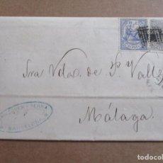 Selos: CIRCULADA Y ESCRITA IMPORTE FLETE DEL VAPOR 1874 DE BARCELONA A MALAGA. Lote 192476043