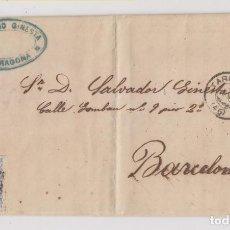 Selos: CARTA ENTERA. TARRAGONA. 1872. MATRONA. Lote 192701861