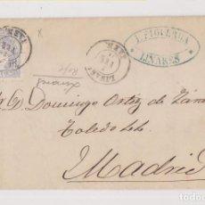 Selos: CARTA ENTERA. LINARES, JAÉN. 1871. FECHADOR. MATRONA. Lote 192706572