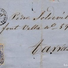 Selos: AÑO1870 EDIFIL 107 CARTA MATASELLOS REUS TARRAGONA MEMBRETE DE PEDRO ORTAL. Lote 192924167