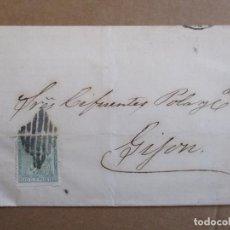 Selos: CIRCULADA 1873 DE CHAMARTIN MADRID A GIJON ASTURIAS CON MATASELLO PARRILLA. Lote 193077266