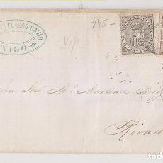 Sellos: ENVUELTA. VIGO, PONTEVEDRA, GALICIA.1874. IMPUESTO DE GUERRA. MARCA COMERCIAL. Lote 193191162