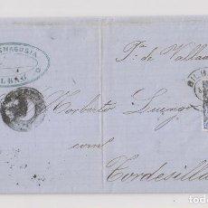 Selos: CARTA ENTERA. BILBAO, VIZCAYA. MATRONA. MARCA COMERCIAL. 1872. Lote 193315981