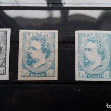 Sellos: 1873 CARLOS VII CARLISMO VASCONGADAS NAVARRA PAIS VASCO ED. 156 156A. Lote 193816647