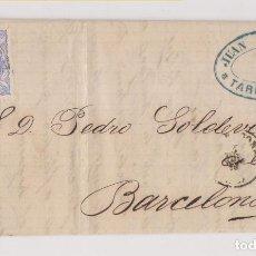 Sellos: CARTA ENTERA. TARRAGONA. 1870. RUEDA DE CARRETA. MATRONA. MARCA COMERCIAL. Lote 194162073