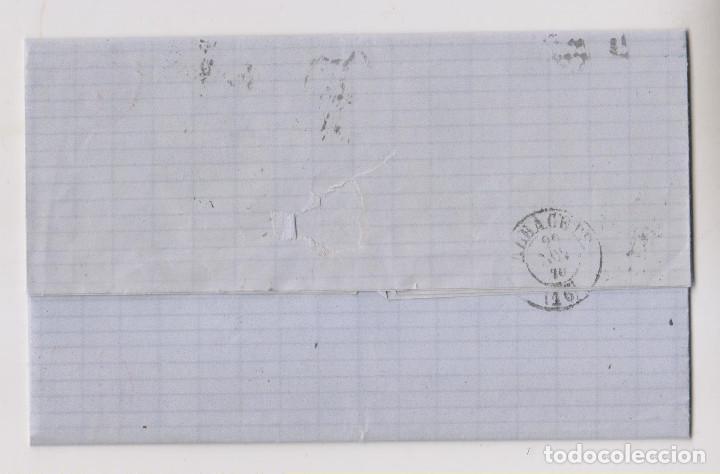 Sellos: CARTA ENTERA. MADRID A ALBACETE. 1870. MATRONA. PARRILLA CON CIFRA. MARCA COMERCIAL - Foto 2 - 194162488