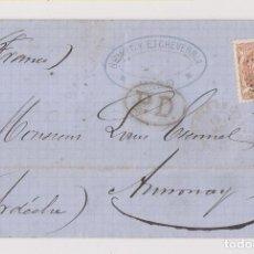 Sellos: CARTA ENTERA. HARO, LA RIOJA. 1872. A FRANCIA. MATRONA. Lote 194534960
