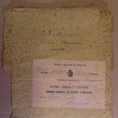 Sellos: PAREJA DE PLICAS DE PERIÓDICO O PUBLICACIÓN. TAMAÑO FOLIO.. Lote 194960678