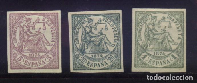 S-4817- ESPAÑA. I REPÚBLICA. 1874 (FALSOS) (Sellos - España - Amadeo I y Primera República (1.870 a 1.874) - Nuevos)