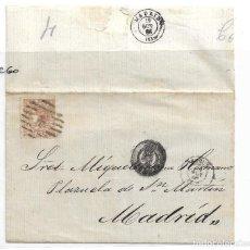 Sellos: CARTA DE CORUÑA A MADRID CON EDIFIL 96. Lote 195191935