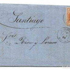 Sellos: CARTA DE ANTEQUERA A SANTIAGO CON EDIFIL 52. Lote 195192231