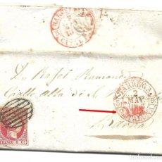 Sellos: CARTA DE TARREGA A BARCELONA CON EDIFIL 17. Lote 195192682