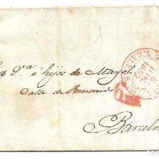 Sellos: CARTA DE MAHON A BARCELONA CON EDIFIL 12. Lote 195193460