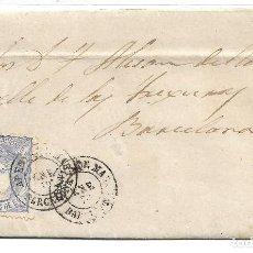 Sellos: CARTA DE ARENYS DE MAR A BARCELONA CON EDIFIL 107. Lote 195193993