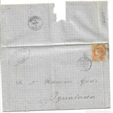 Sellos: CARTA DE BILBAO A IGUALADA CON EDIFIL 52. Lote 195194282