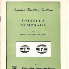 Sellos: LIBRITO PARRILLA NUMERADA DE RAMON CORTES DE HARO. Lote 195194585