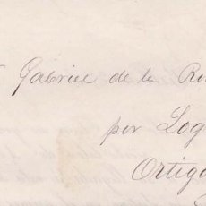 Sellos: AÑO1873 EDIFIL 130 CORONA CARTA IMPRESA DE BILBAO A ORTIGOSA . Lote 195218250