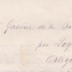 Selos: AÑO1873 EDIFIL 130 CORONA CARTA IMPRESA DE BILBAO A ORTIGOSA . Lote 195218250