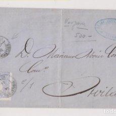 Sellos: ENVUELTA. VERGARA, GUIPÚZCOA. PAÍS VASCO. 1870. MATRONA. Lote 195435467