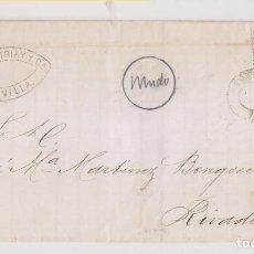 Sellos: ENVUELTA. SEVILLA. MATRONA. FECHADOR MUDO Y MARCA COMERCIAL. 1872.. Lote 195436105