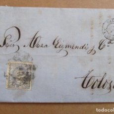 Sellos: CIRCULADA Y ESCRITA 1870 DE VALLADOLID A TOLOSA GUIPUZCOA. Lote 195444781