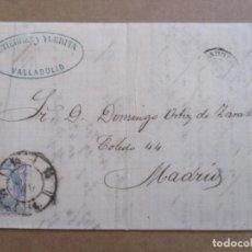 Selos: CIRCULADA Y ESCRITA 1870 DE VALLADOLID A MADRID. Lote 195444835