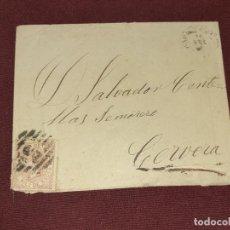 Sellos: CARTA CLÁSICA. BARCELONA A CERVERA. Lote 195481861