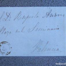 Sellos: CARTA COMPLETA AÑO 1871 ONTENIENTE CON MEMBRETE DE VICENTE TORMO EDIFIL 107. Lote 197312568