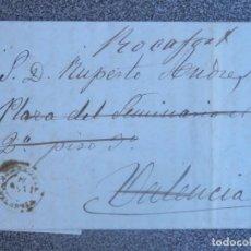 Sellos: CARTA COMPLETA AÑO 1870 ONTENIENTE CON MEMBRETE DE VICENTE TORMO EDIFIL 107 REENVIADA ROCAFORT. Lote 197313945