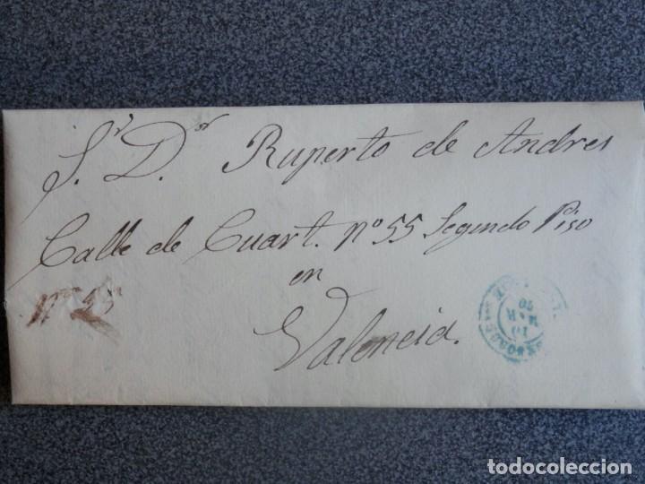 CARTA COMPLETA AÑO 1870 FECHADOR SEGORBE CASTELLÓN EN AZUL A VALENCIA EDIFIL 107 (Sellos - España - Amadeo I y Primera República (1.870 a 1.874) - Cartas)