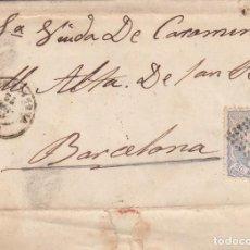 Sellos: CARTA COMPLETA CON SELLO NUM 107 DE BALAÑA EN REUS A BARCELONA -FECHADOR Y MATASELLOS DE ROMBO DE . Lote 199426841