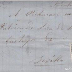 Selos: CARTA COMPLETA CON SELLO NUM.107 DE ERNESTO WINTER EN GIJÓN DESTINO SEVILLA -1871. Lote 199427377