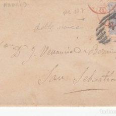 Sellos: SOBRE CON SELLO NUM 107 DE MADRID FECHADOR ROJO 1870 -CARTA EN EL INTERIOR MUSICA CASIMIRO MARTIN. Lote 199427626