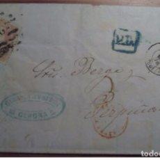 Sellos: ESPAÑA GERONA PARRILLA CIFRA 26 NUMERADA 1870 GOBIERNO PROVINCIAL PD. Lote 199653366