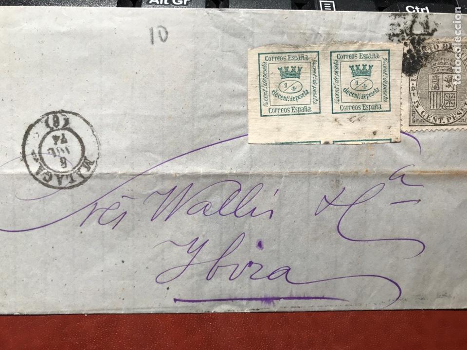 FILATELIA. IBIZA. MÁLAGA. 1874. SIN CARTA (Sellos - España - Amadeo I y Primera República (1.870 a 1.874) - Usados)