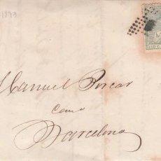 Timbres: CARTA CON SELLO NUM . 133 DE C. NICOLAU EN TORTOSA --1873--. Lote 199740692