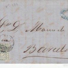 Sellos: CARTA CON SELLO NUM . 133 DE FERNANDO NAVARRO EN XERTA - MATASELLOS TORTOSA - 1873-. Lote 199741450