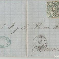Selos: 1875-JÁVEA-BARCELONA. Lote 200660775