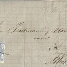 Selos: 1872-SOCUÉLLAMOS-ALBACETE. Lote 201346716