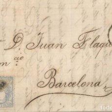 Selos: 1872-HUESCA-BARCELONA. Lote 201350406