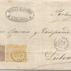 Sellos: 1875-ZARAGOZA-LISBOA. Lote 201538123