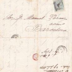 Selos: AÑO 1873 EDIFIL 133 ALEGORIA MATASELLOS ROMBO TORTOSA TARRAGONA MEMBRETE CARLOS NICOLAU. Lote 203916066