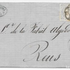 Sellos: CATALUÑA. TARAGONA. EDIFIL 106 PAREJA. ENVUELTA DE TARRAGONA A REUS. 1871. Lote 204505112